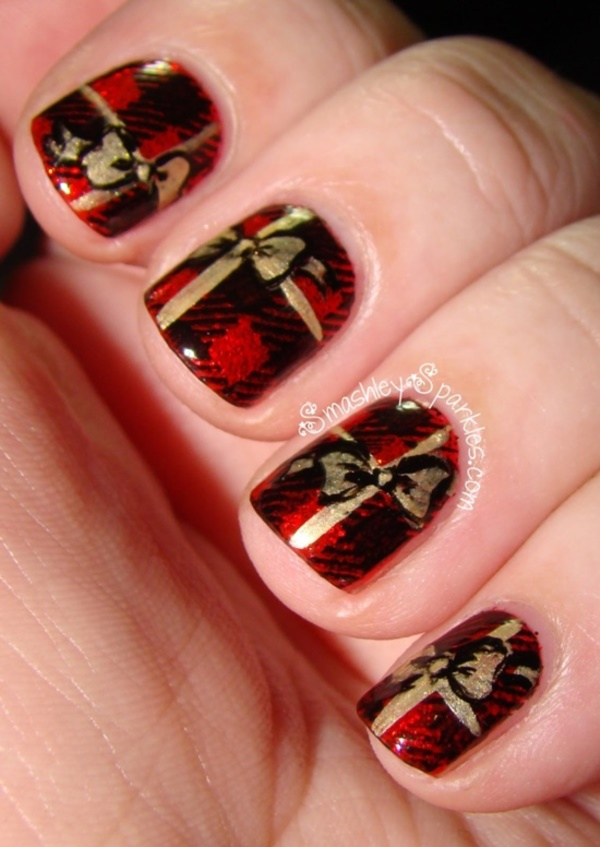 Christmas present nail design christmas present nail art quotes christmas present nail design splendid red nail art designs to say quot i m hot prinsesfo Gallery