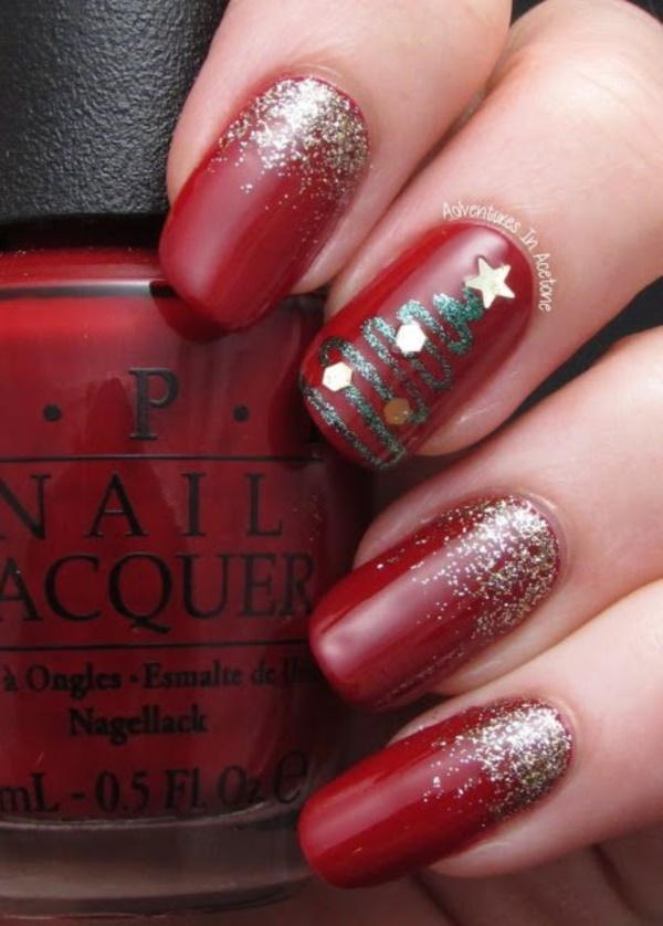 Red Nail Art Designs (48)