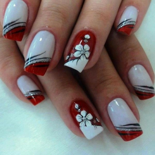 Red Nail Art Designs (50)