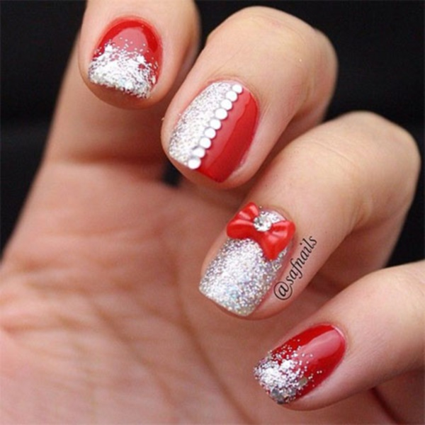 Red Nail Art Designs (52) - 101 Splendid Red Nail Art Designs To Say