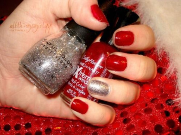 Red Nail Art Designs 53