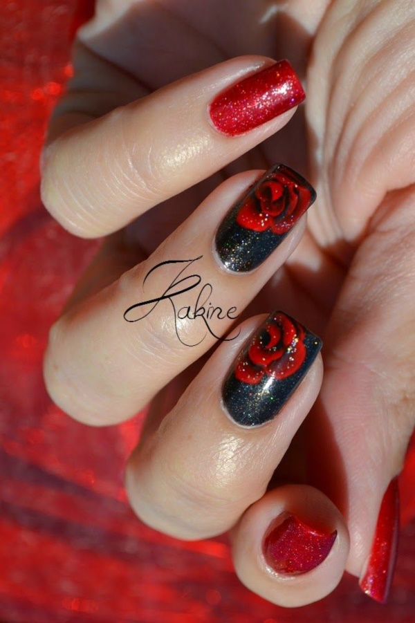 Red Nail Art Designs (56)