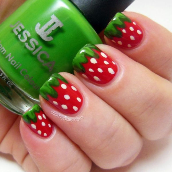 Red Nail Art Designs (6)