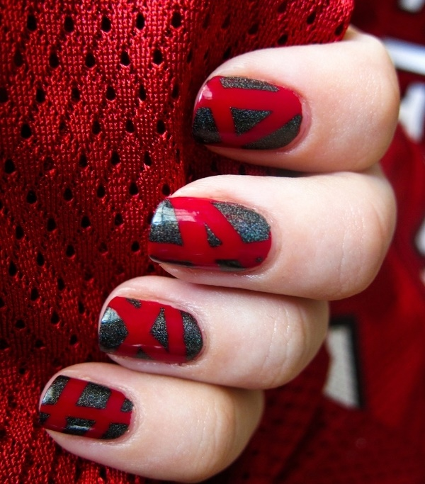 Line Texture On Nails : Splendid red nail art designs to say quot i m hot