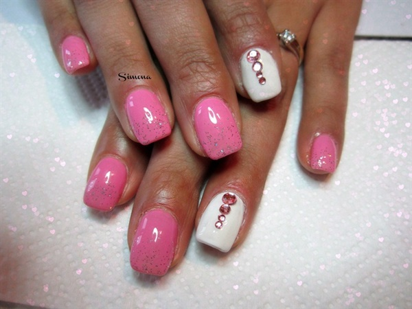 pink and white nail art (100)