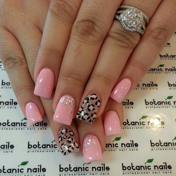 pink and white nail art (102)