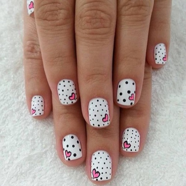 pink and white nail art (115)