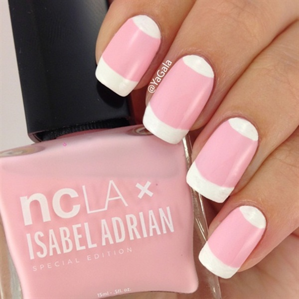 pink and white nail art (119)