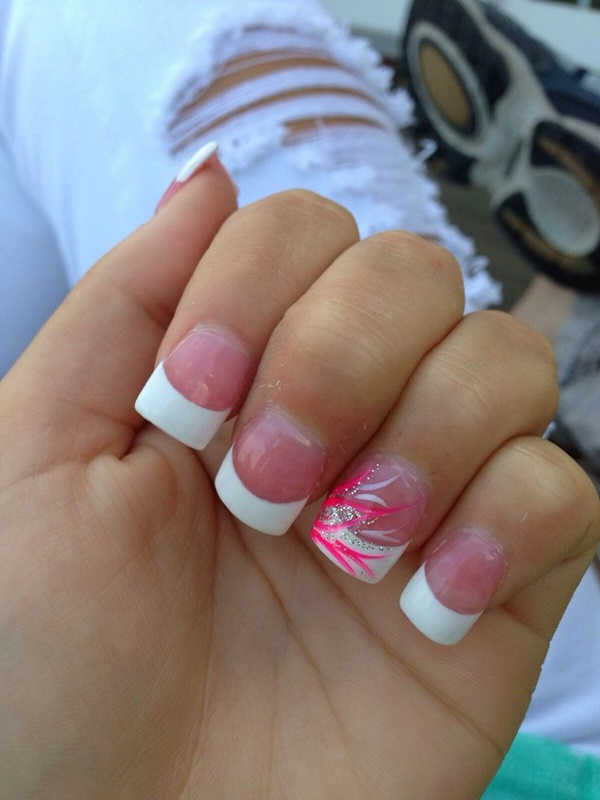 pink and white nail art (12)