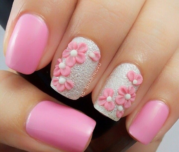 pink and white nail art (14)