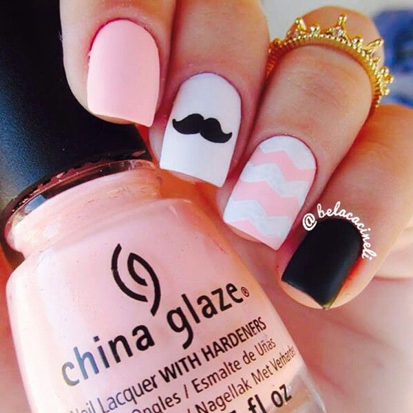 pink and white nail art (15)