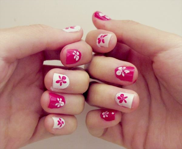pink and white nail art (16)