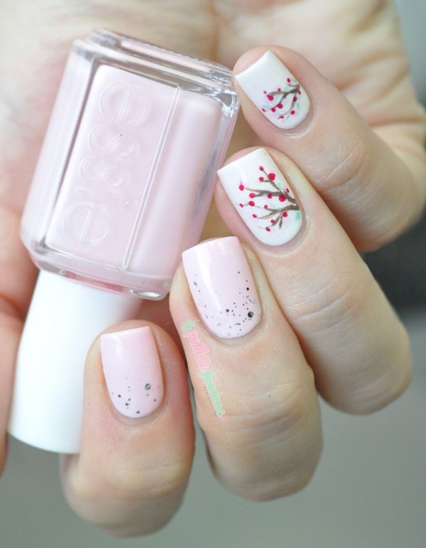pink and white nail art (17)