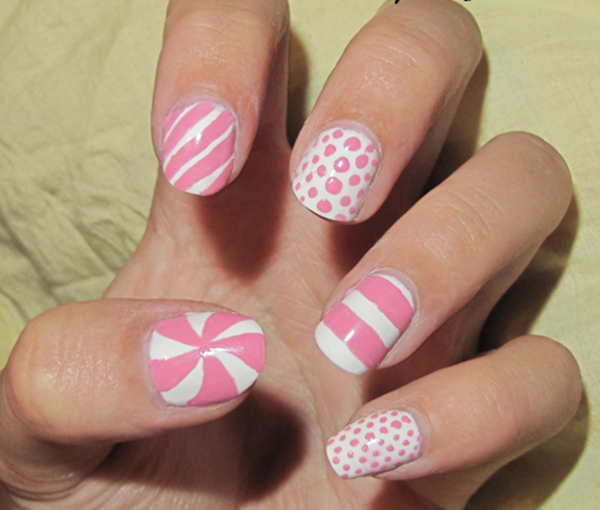 pink and white nail art (2)