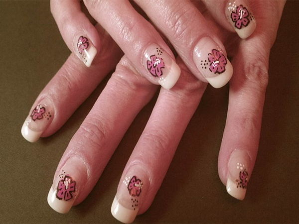 pink and white nail art (20)