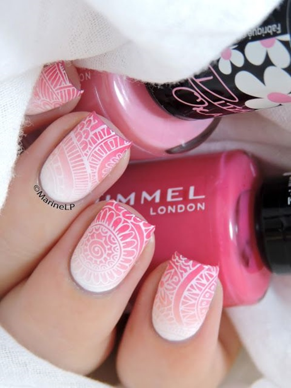 pink and white nail art (27)
