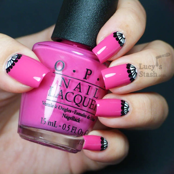 101 cute pink and white nails designs worth stealing pink and white nail art 3 prinsesfo Gallery
