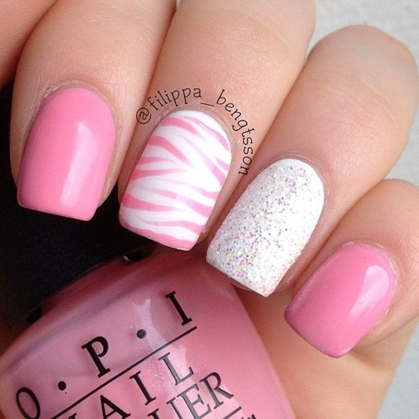 pink and white nail art (31)