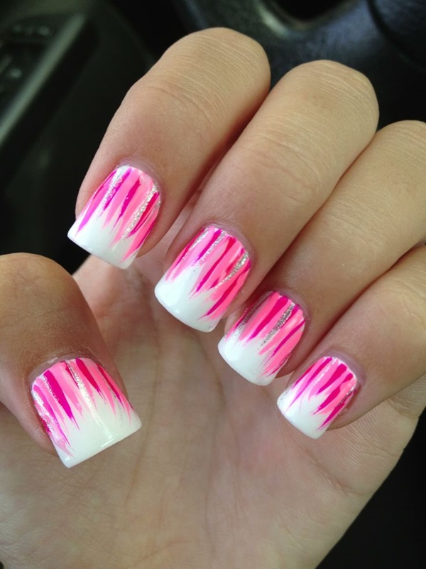 pink and white nail art (32) - 101 Cute Pink And White Nails Designs Worth Stealing