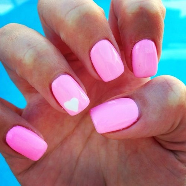 pink and white nail art (36)