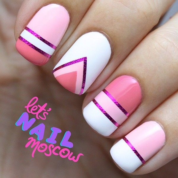 pink and white nail art (37)
