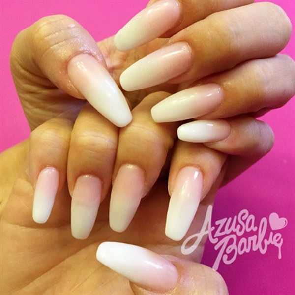 Pink And White Nail Art 42