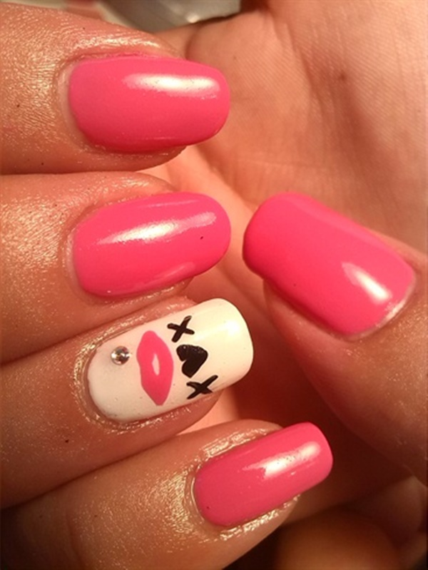 pink and white nail art (49)