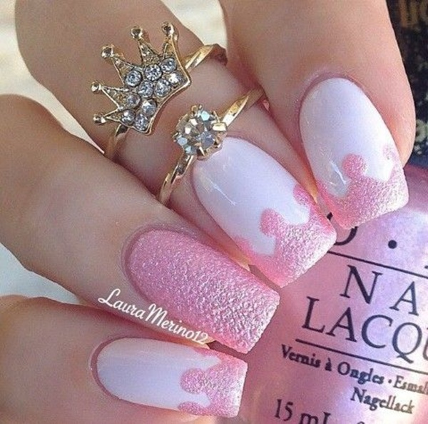 pink and white nail art (5)