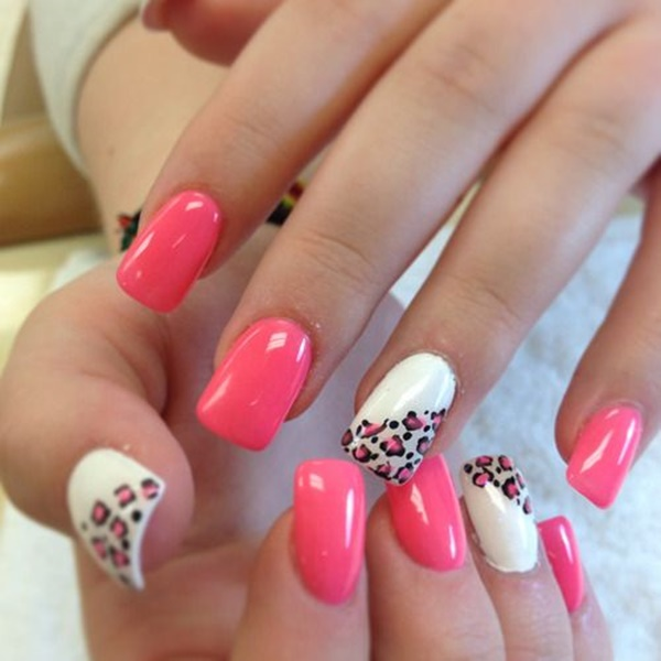 pink and white nail art (51)