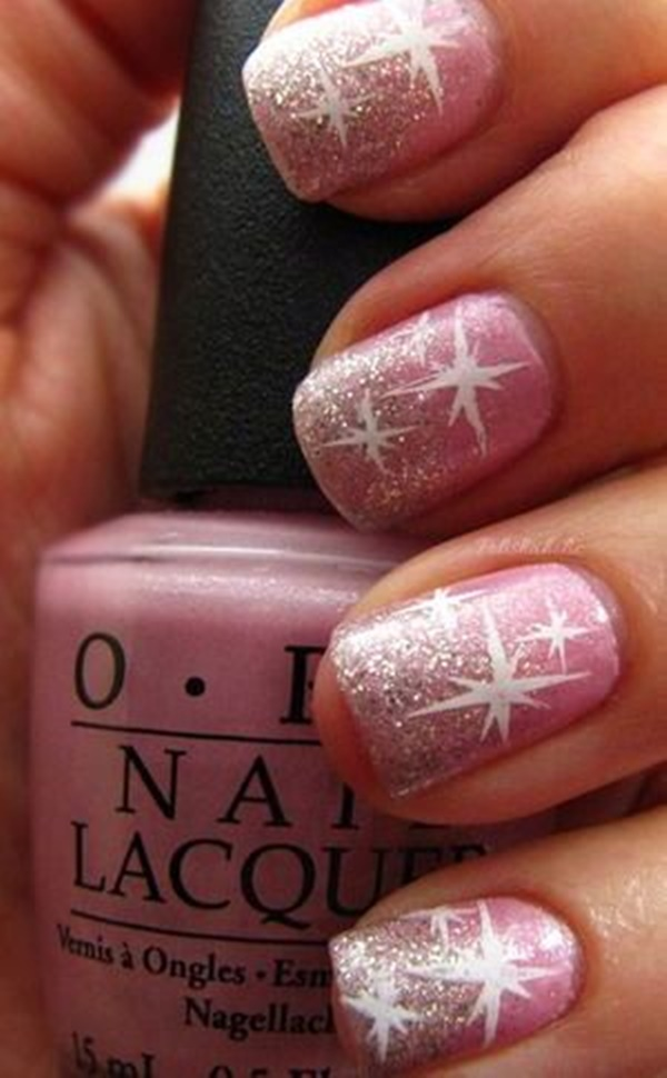 pink and white nail art (52)