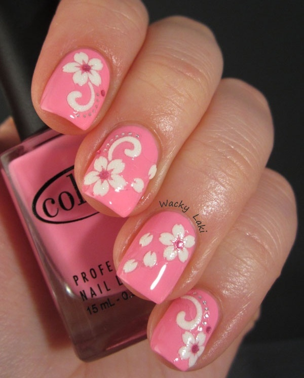 pink and white nail art (55)