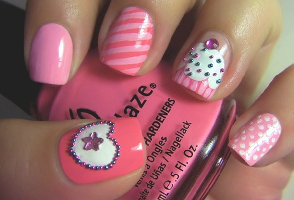 pink and white nail art (58)