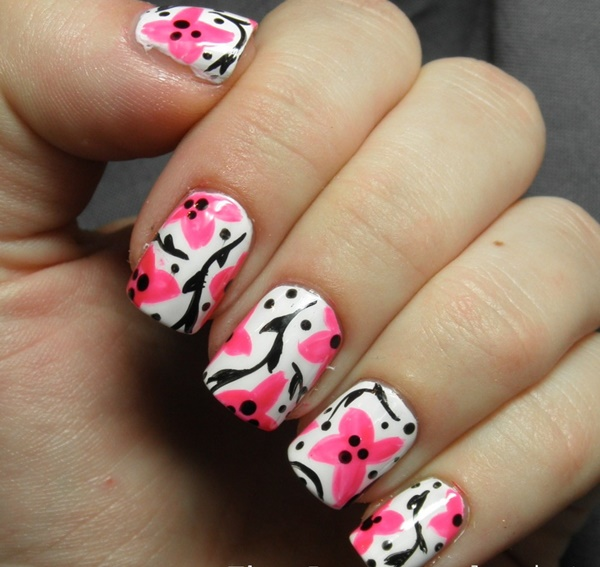 pink and white nail art (59)