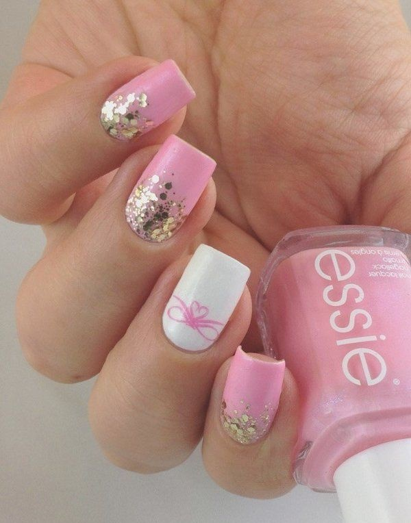 pink and white nail art (61)