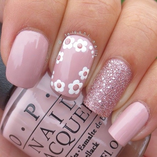 pink and white nail art (62)