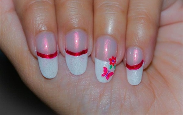 pink and white nail art (63)