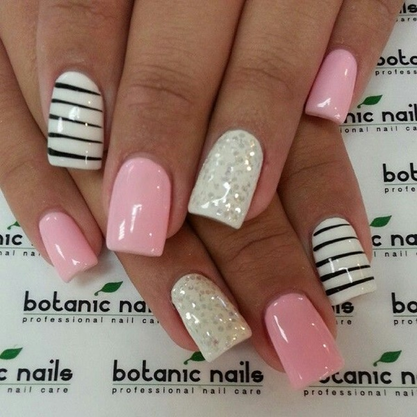 pink and white nail art (65)