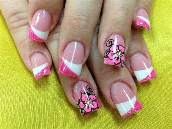 pink and white nail art (67)