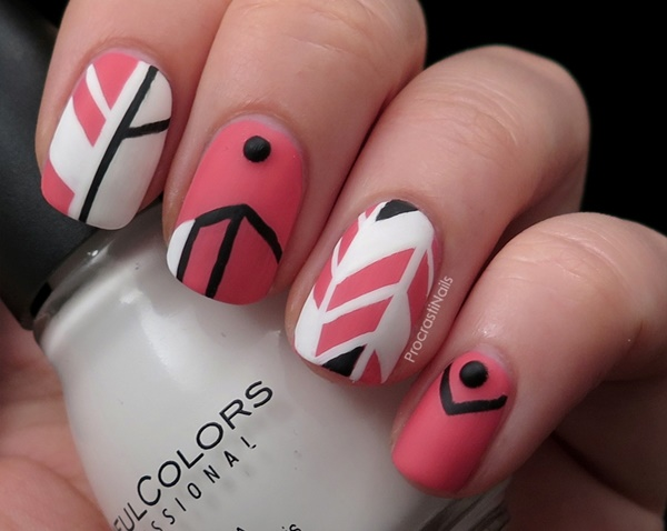 pink and white nail art (68)