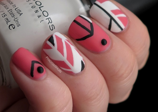 pink and white nail art (69)