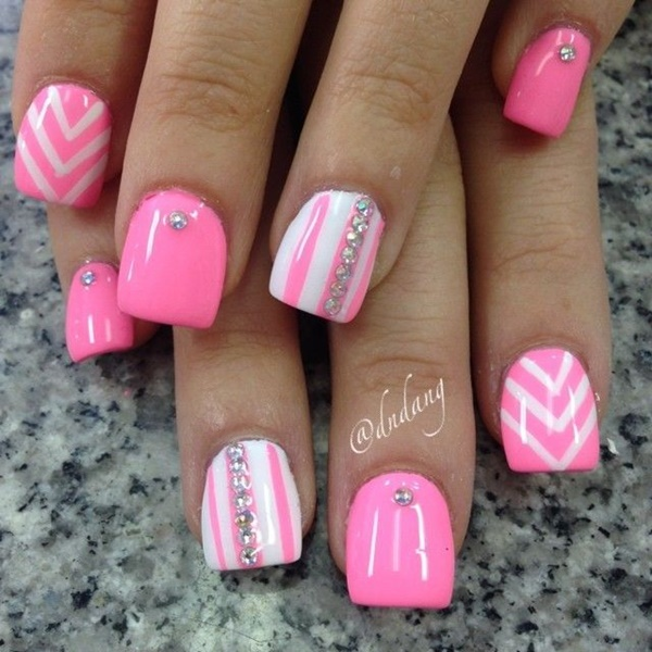 pink and white nail art (7)