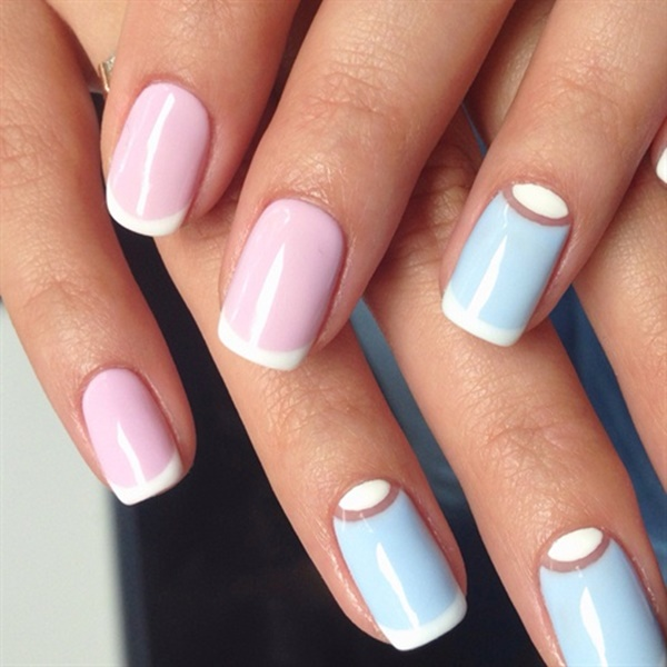 pink and white nail art (70)