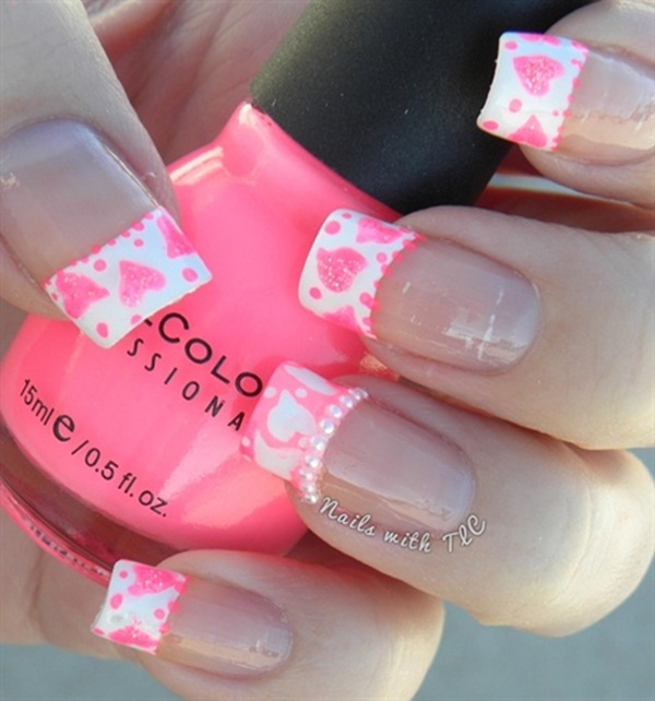 pink and white nail art (76)