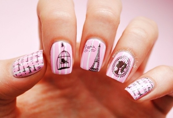 pink and white nail art (78)
