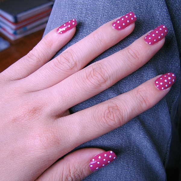 pink and white nail art (80)