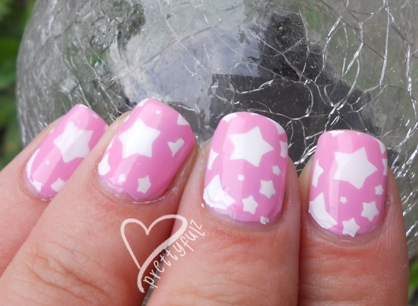 pink and white nail art (81)