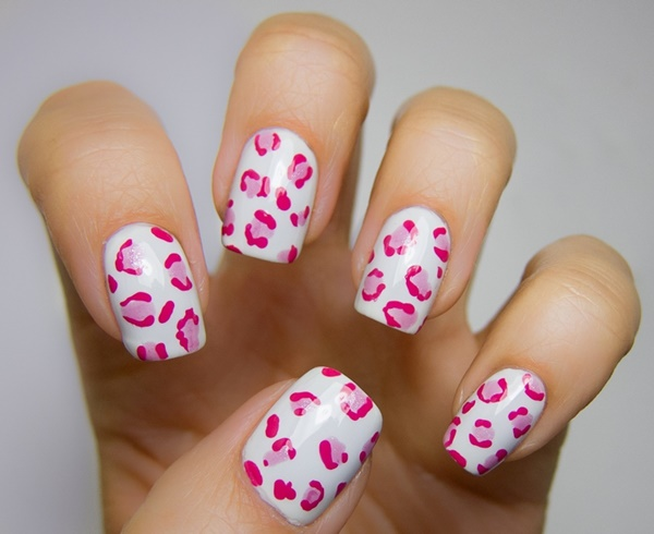 pink and white nail art (85)