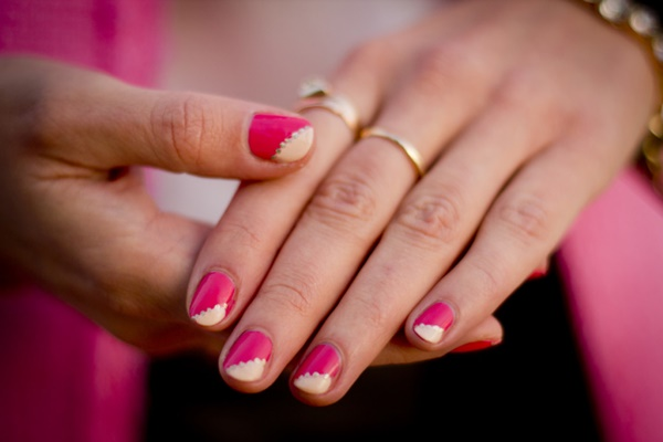 pink and white nail art (86)
