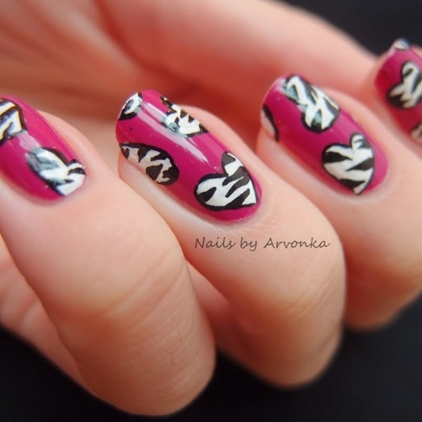 pink and white nail art (89)