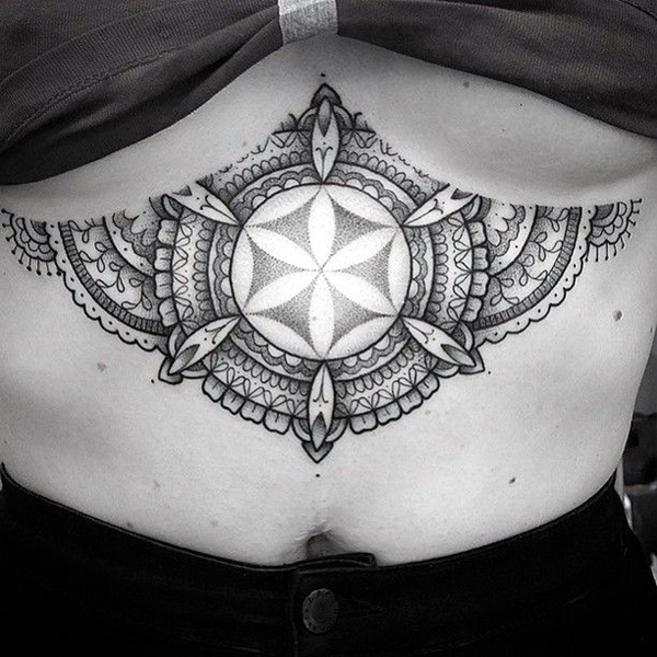Underboob Tattoos Designs for Women (10)